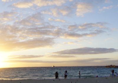 La madugada en Playa del Carmen
