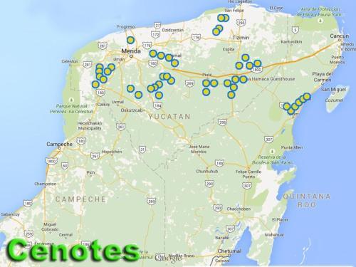 cenote yucatan carte