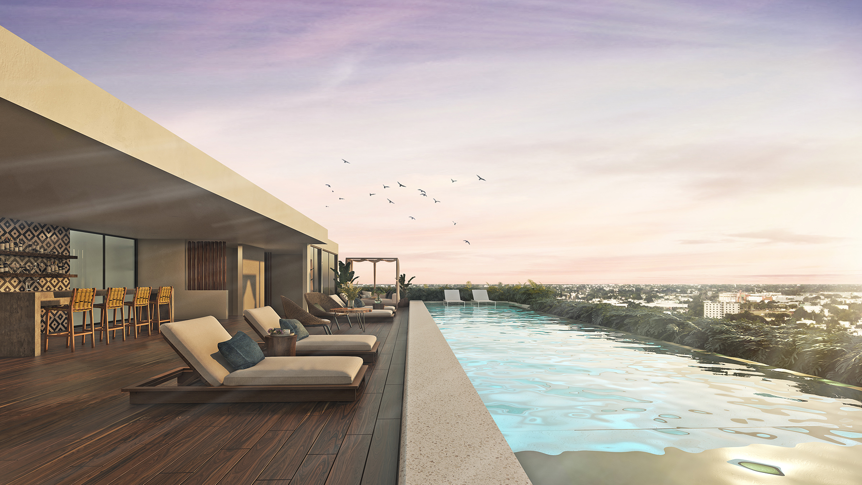 PISCINA 1- Paravian - Pelicano Properties - playa del Carmen