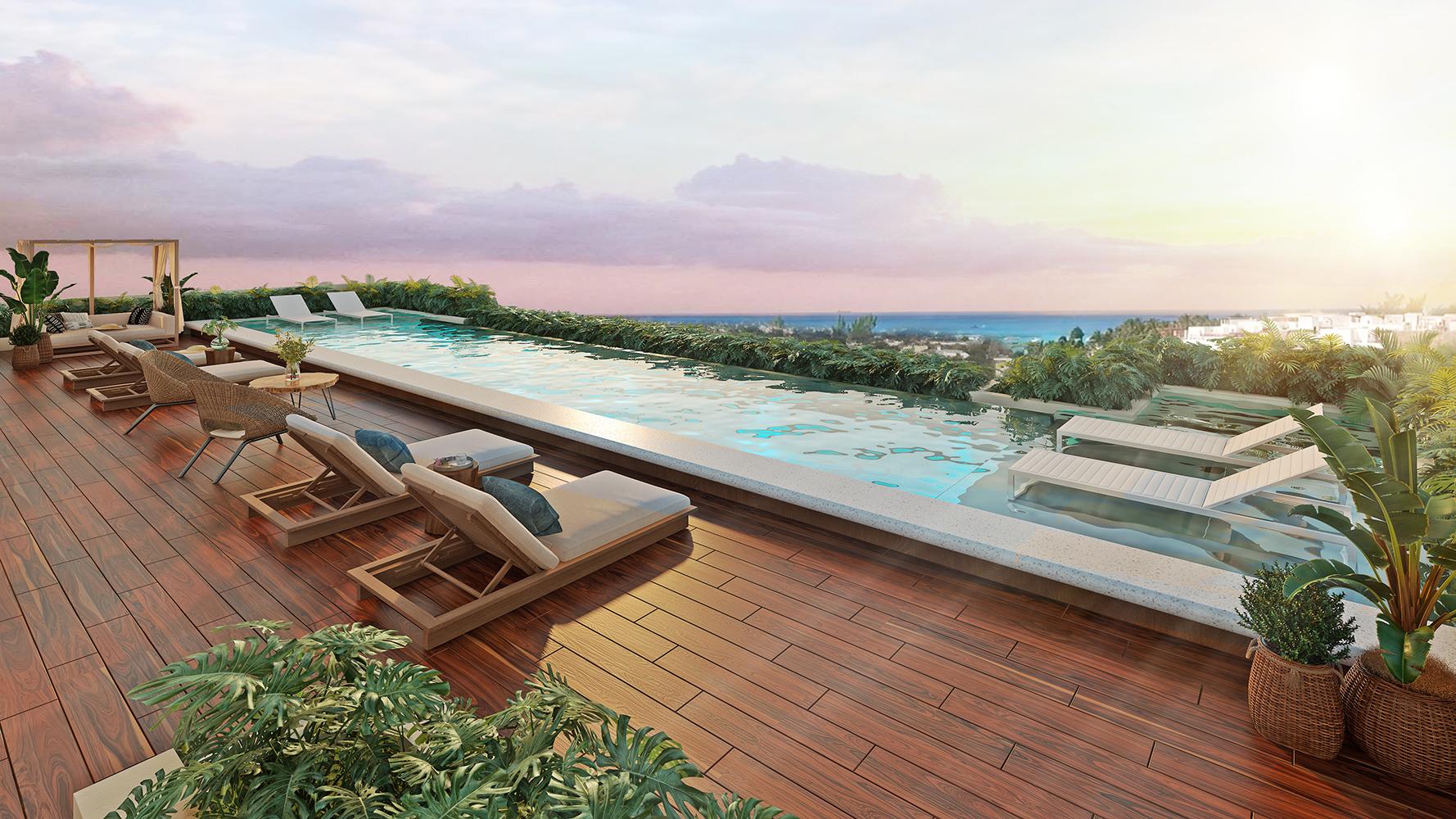 PISCINA 2- Paravian - Pelicano Properties - playa del Carmen