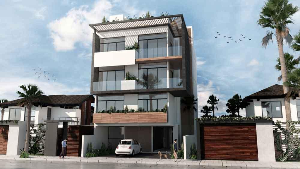 Fachada-Frontal---Huaya-18---playa-del-Carmen---Pelicano-Properties