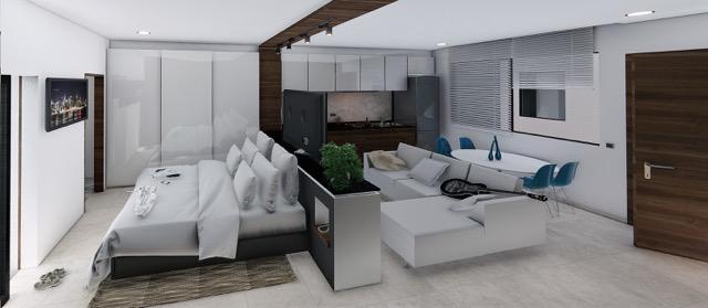 Interior lateral - Cosmo 42 - playa del Carmen - Pelicano Properties
