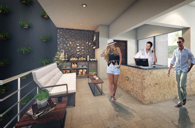 Lobby - Cosmo 42 - playa del Carmen - Pelicano Properties