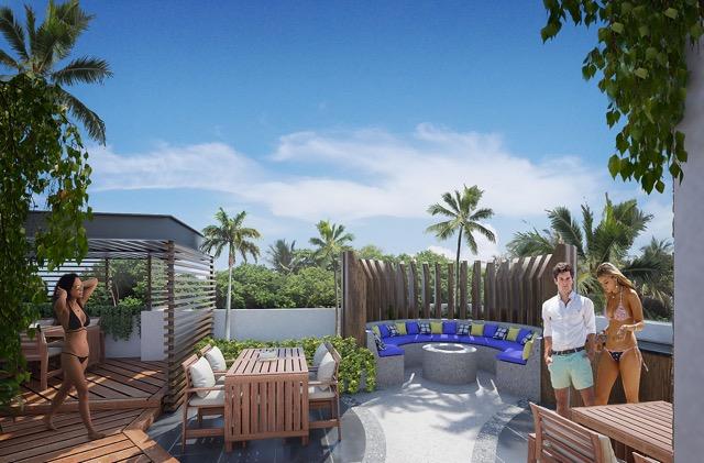 Roof área de estar - Cosmo 42 - playa del Carmen - Pelicano Properties
