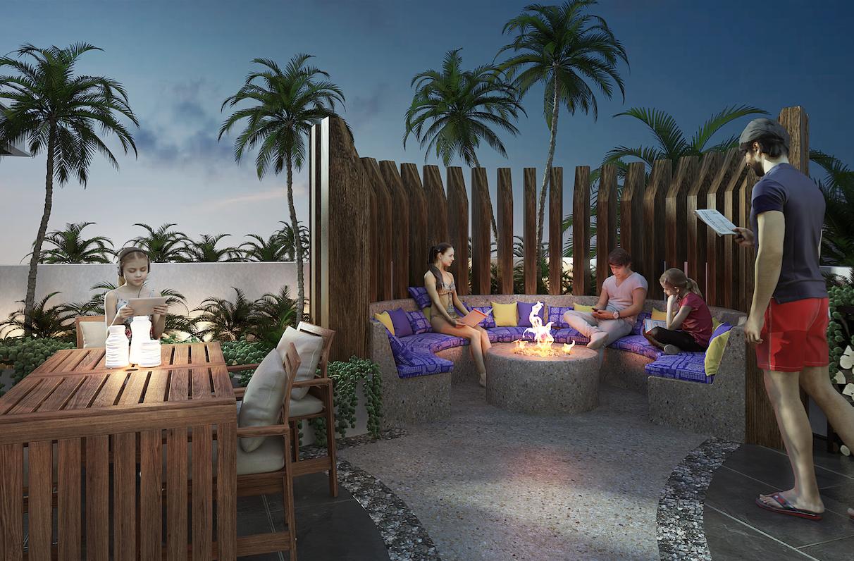 Roof área de lectura - Cosmo 42 - playa del Carmen - Pelicano Properties