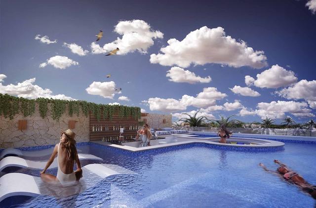 Roof Alberca - Cosmo 42 - playa del Carmen - Pelicano Properties