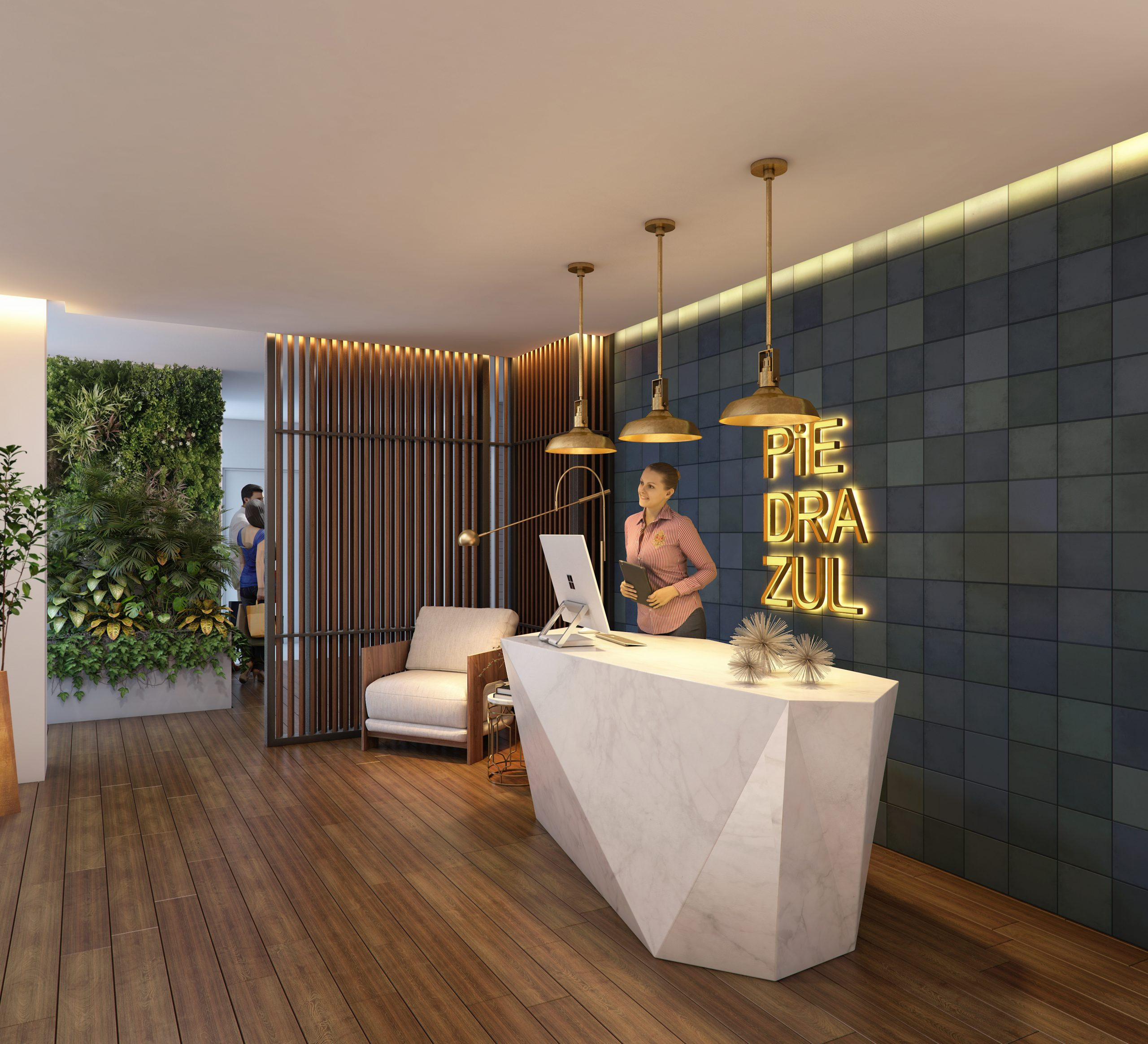 03 - LOBBY - PIEDRAZULL - Pelicano Properties - Playa del Carmen