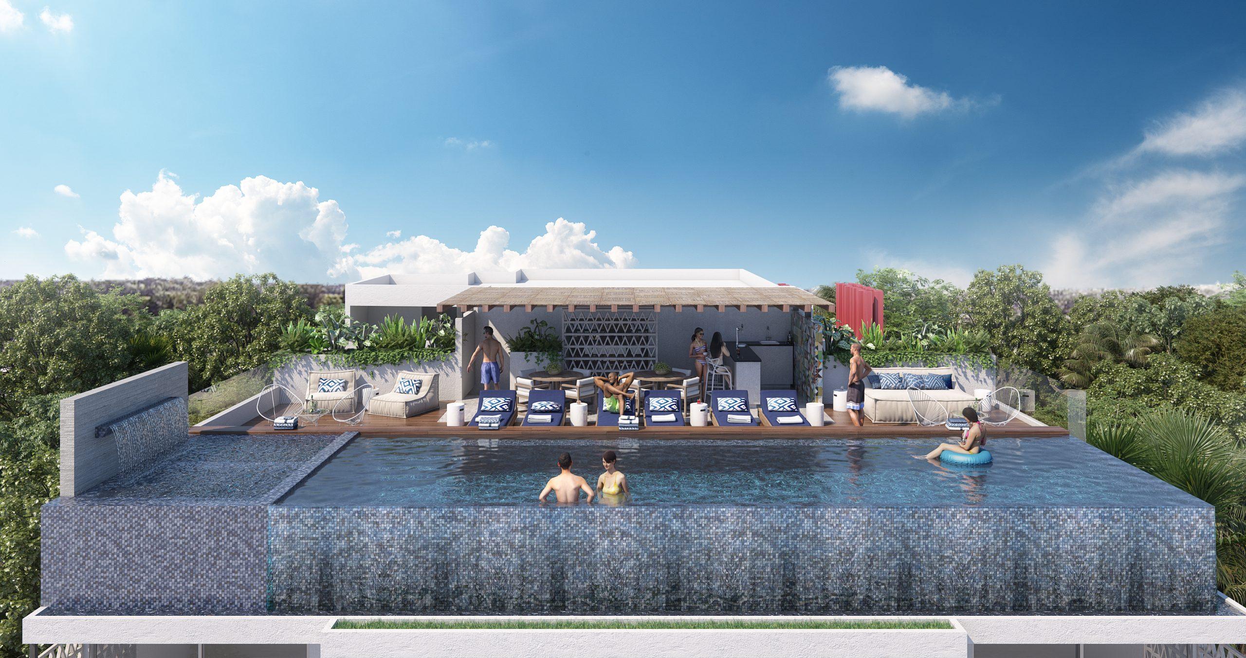 03 - ROOF AEREA - PIEDRAZULL - Pelicano Properties - Playa del Carmen
