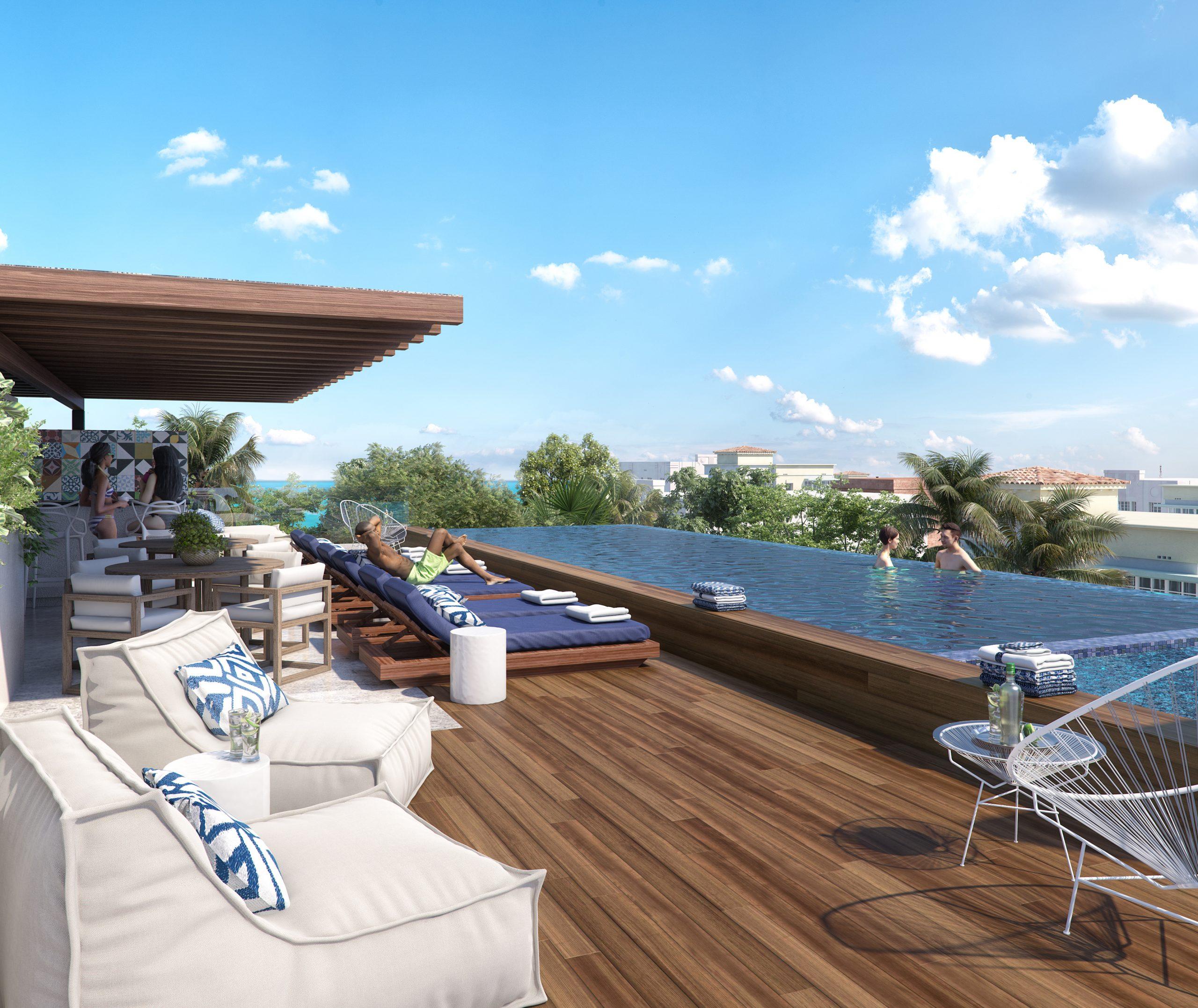 04 - ROOF - PIEDRAZULL - Pelicano Properties - Playa del Carmen