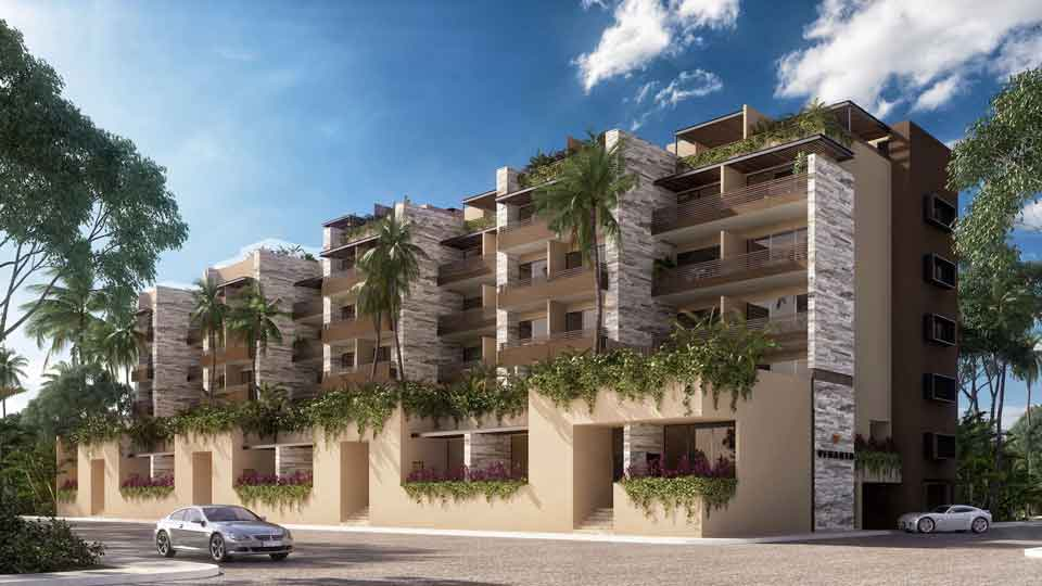 Fachada--Pelicano-Properties---Playa-del-Carmen---Tulum