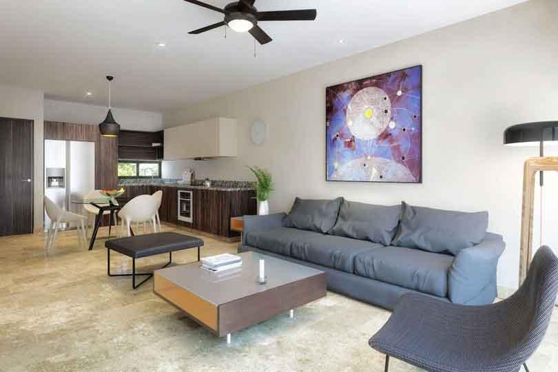 Sala_cocina--Pelicano-Properties---Playa-del-Carmen---Tulum