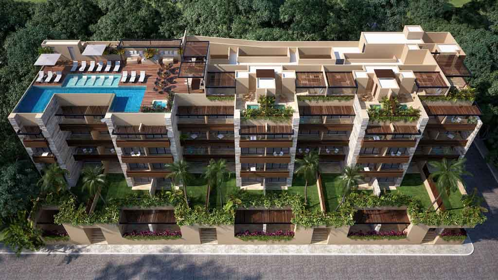 Vista-Aerea--Pelicano-Properties---Playa-del-Carmen---Tulum