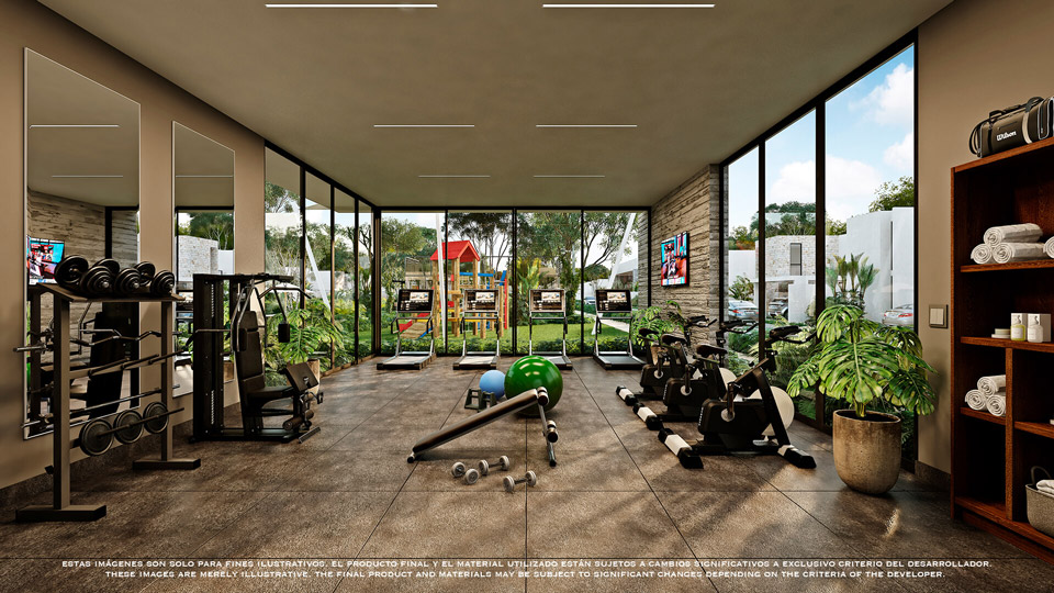 GYM---Pelicano-Properties---playa-del-Carmen--Tulum---Cancun