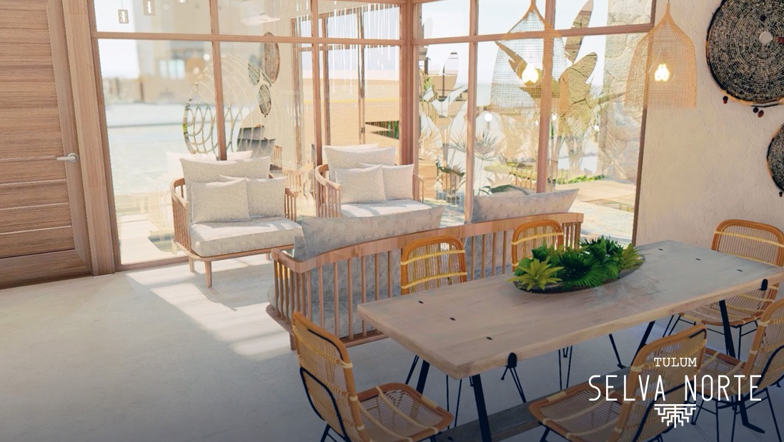 SALA COMEDOR - SELVA NORTE - Pelicano Properties - Playa del Carmen - Tulum - Cancun