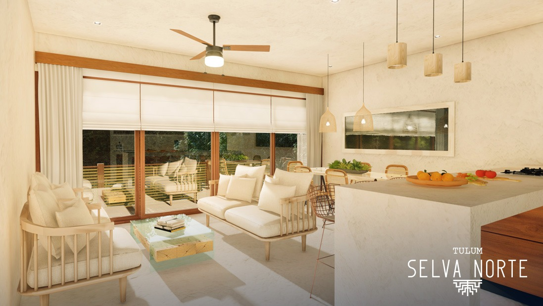 Sala Comedor 3 - SELVA NORTE - Pelicano Properties - Playa del Carmen - Tulum - Cancun