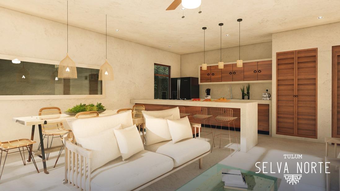 Sala , Comedor - SELVA NORTE - Pelicano Properties - Playa del Carmen - Tulum - Cancun